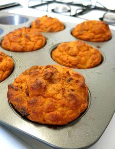 Pumpkin Protein Muffins // (about 6 muffins) // 1 cup 100% pumpkin puree, 1 cup vanilla whey protein powder, 1/4  cup arrowroot starch, 2 tsp baking powder, 2 tsp cinnamon or pumpkin pie spice (optional)