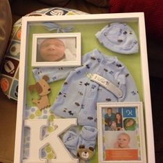 Going Home Outfit Baby Boy | Baby boy going home outfit shadow box I made. I'm so proud of it! :)