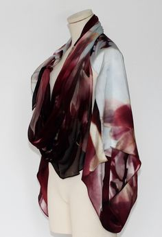 digitally printed shrug by lorena santin andrade Silk Art, Printed, Photography, Shopping, Fashion, Accessories, Moda, Photograph, Fashion Styles