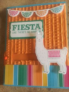 Birthday Fiesta - slider card. Stampin Up. 2016 catalog.