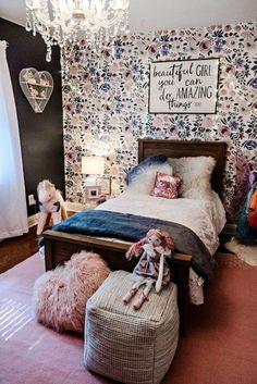 Tween girl bedroom - Little Girl Room Decor Teen Girl Rooms, Little Girl Rooms, Kids Rooms, Girl Kids Room, Toddler Girl Rooms, Modern Girls Rooms, Toddler Room Decor, Dressing Room Design, Stylish Bedroom