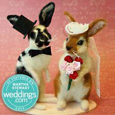 Bunny / Rabbit Custom Wedding Cake Topper by FacciDesigns on Etsy