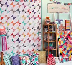That bow tie quilt is precious...  cluck. cluck. sew