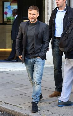 Pin for Later: This Week's Can't-Miss Celebrity Photos  Gary Barlow promoted Take That's new single at a radio station in London.