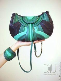 """""""Модерн"""" - в полоску,сумка женская,сумка ручной работы,сумка кожаная,подарок женщине"""