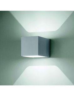 Copenhagen Cube Grå LED Væglampe Studio Italia Design