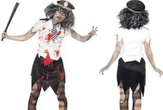 Zombie police woman fancy dress costume by Smiffy`s costumes . Costume Dress, Fancy Dress, Police, Ballet Skirt, Punk, Costumes, Woman, Skirts, Dresses