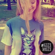 Kitty mint tee