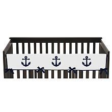 Sweet Jojo Designs Anchors Away Collection Crib Rail Guard Cover