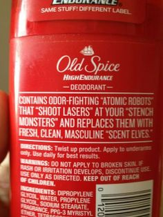 Old Spice contains...