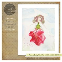 Flower Fairy Wall Art by Mookoo Design