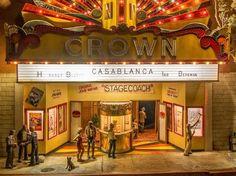 Michael Garman's Magic Town - Sculptures by Michael Garman Museum & Gallery Modern Sculpture, Abstract Sculpture, John Wayne, Visual Effects, Small World, Casablanca, Miniature Dolls, Scale Models, Art Projects