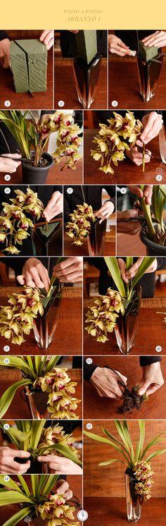 Como montar arranjos em vasos usando espuma floral                                                                                                                                                                                 Mais