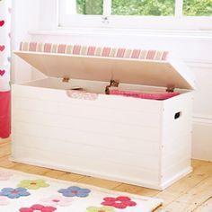 Toybox Seat (Deckchair Pink Cushion)