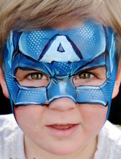 kinderschminken jungen motive kapitän Amerika #makeup #fasching