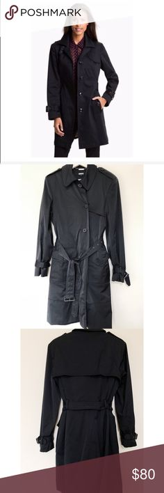 DKNY | Heavy Duty Cotton/Nylon Belted Trench Coat DKNY | Cotton/Nylon Belted Trench Coat • Redefining the trench silhouette. Heavy duty. This coat is an ideal outerwear option for the modern woman in the city. Size Large. In excellent condition! Model photos to show similar fit/style. Not actually being sold.   -Peaked lapels -Single breasted button-up fastening -Adjustable waist belt -Side pockets -Long sleeves with belted cuffs DKNYC Jackets & Coats Trench Coats