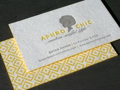 love the letterpress & the graphic pattern on the back. also am digging the vintage yellow although i'd rather see it as an accent color versus the primary color.