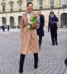 12 March 2017 - The Crown Princess Family attends  Victoria's Name Day celebrations at the Royal Palace