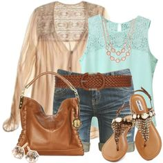 A fashion look from March 2015 featuring Wet Seal shorts, Vince Camuto shoulder bags and Charter Club necklaces. Browse and shop related looks.