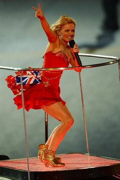Ginger Spice  at the London Olympics 2012 Closing Ceremony