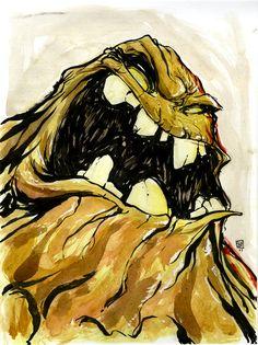 Clay Face by Skottie Young. I Am Batman, Batman Art, Batman Book, Skottie Young, Character Drawing, Comic Character, Comic Villains, Young Art, Clay Faces