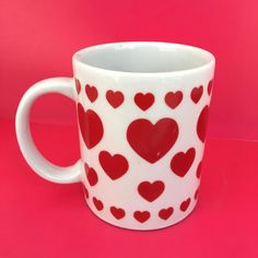 Oriental Trading Company Valentine's Day Red Love Hearts Ceramic Coffee Mug #OrientalTradingCompany