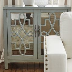 Beachcrest Home Galvin 2 Door Accent Cabinet Entry Furniture, Mirrored Furniture, Furniture Projects, Furniture Decor, Furniture Inspiration, Home Decor Inspiration, Decor Ideas, Bungalow Bedroom, French Home Decor