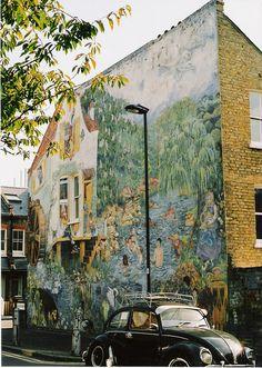 Brixton mural by   Robert