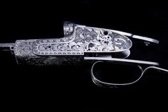 Hand engraved gun by Bill Oyster of Oyster Bamboo Fly Rods. Photo by David Cannon Handcrafted for your lifetime…an heirloom for future generations. Bamboo Fly Rod, Fly Rods, Hand Engraving, Airsoft, Cannon, Fly Fishing, Oysters, Gun, David