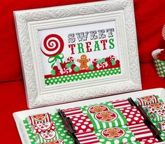 Party Favors from a Christmas Sweet Shoppe Party #christmas #partyfavors