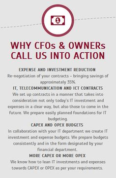WHY CFOs & OWNERs CALL US INTO ACTION