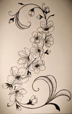 Belagoria: 40 Tatuajes de flores de cerezo para chicas
