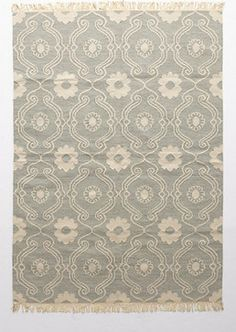 French Quartier Rug, Light Gray - eclectic - rugs - Anthropologie