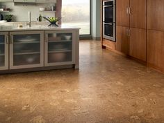 cork for the seemless kitchen floor????