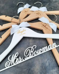 ⭐⭐⭐⭐⭐ 'I absolutely love the hangers we got for my bridesmaids and myself! They are very high quality and so pretty! Very quick shipping also! I don't usually review things, but these were excellent.' • • • • • #bridesmaidhangers #personalizedhangers #bridesmaidgift #bridalshowergift #bridalpartygifts #bridesmaids #bridalshower #bridalparty #giftideas #bridesmaidideas #bridesmaidgiftideas #bridesmaids #bridesmaidduty #personalizedgift #customhanger #bridesquad #weddinggifts #bridalpartysquad Bridesmaid Hangers, Bridesmaid Duties, Bridesmaid Gifts, Bridesmaids, Personalized Hangers, Matron Of Honour, Bridal Shower Gifts, Wedding Gifts, Pretty