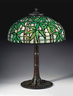 A BAMBOO TABLE LAMP, CIRCA 1910