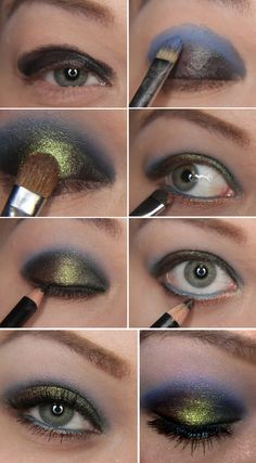 Iridescent Peacock Eyes | 22 Beauty Tutorials For Dramatic Holiday Looks
