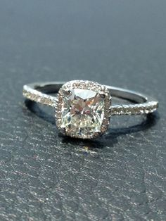 Cushion cut engagement ring...