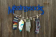 Missing Socks Laundry Wall Art / $52 / spunkyfluff on Etsy