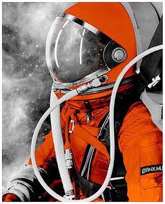 Orange astronaute
