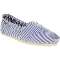 Toms University classic blue seersucker smu found on Polyvore
