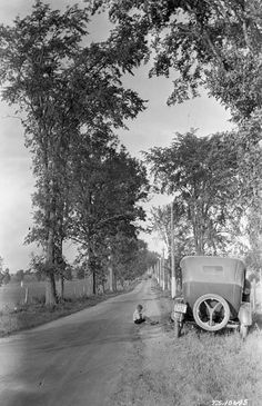 Here is the highway from Ottawa to Montreal near Rigaud, Quebec, in the And the road we travelled in Capital City, Ottawa, Quebec, Us Travel, Montreal, 1920s, Places Ive Been, Country Roads, Canada