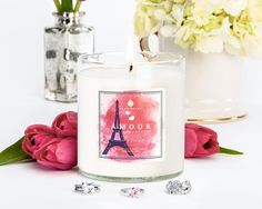 3 rings, 1 candle! Welcome our newest Trio Collection candle and the crowning jewel of the LOVE Collection story...Amour! A love affair for your senses, this passionate aroma combines watery floral tones and fragrant notes of sugared musk. Warm vanilla add softness to the rich blend of cashmere woods and velvet moss that set the stage for this sultry scent. Treat yourself or surprise your favorite people with JewelScent! Aroma Beads, Romantic Candles, Wax Tarts, Scented Candles, Soy Candles, Candle Jars, Jewelry Gifts, Jewelry Candles, Candle Rings