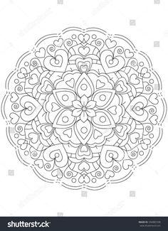 Mandala Coloring Page, Illustration
