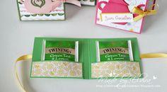 Teebeutelbüchlein mit dem Designerpapier Noch ein Tässchen von Stampin Up