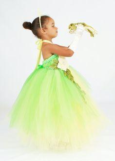 tutu dress green yellow princess tiana by cutiepatootiedesignz 13500 - Halloween Princess Costumes For Toddlers