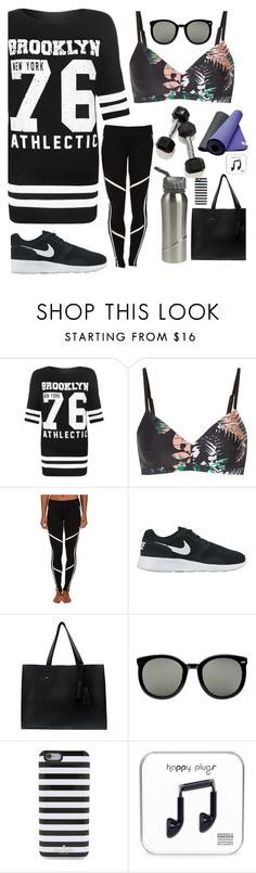 """Workout//standout"" by rschnabe ❤ liked on Polyvore featuring WearAll, The Upside, Alo, NIKE, Shaffer, Karen Walker and Kate Spade"