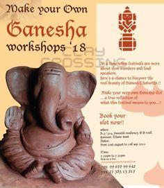 Eco Friendly Ganesha, Clay Ganesha, Ganesh Idol, Ganpati Bappa, Real Beauty, Clay Art, Diy And Crafts, Workshop