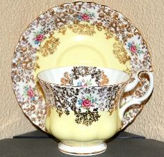 Royal Albert Picardy Series: pink, lavender, blue, green, yellow and???