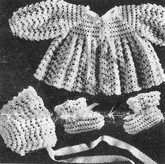 Alice Fowler Crocheted Baby Set 1252